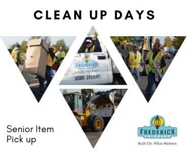 Clean Up Days reminder for senior pick up picture